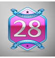 Twenty eight years anniversary celebration silver vector image vector image