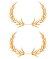 Two Wheat ears Wreath EPS 10 vector image vector image