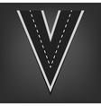 V letter Road font vector image vector image
