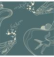 vintage fish vector image vector image