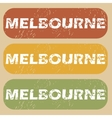 Vintage Melbourne stamp set vector image