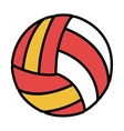 volleyball balloon sport icon vector image