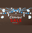 web banner for oktoberfest sale vector image
