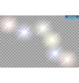 white glitter wave white star dust trail vector image vector image