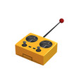 yellow remote controller for quadcopter with vector image vector image