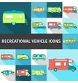 Recreational Vehicle Flat Icons vector image