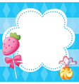 A stationery template with candies vector image vector image