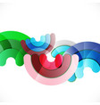 abstract colorful shiny circle or ring vector image vector image
