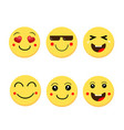 abstract funny flat style emoji emoticon vector image