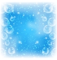 background bubbles on blue vector image