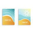 beautiful summer time cards posters flyers vector image