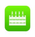beer wooden box icon digital green vector image vector image