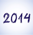 Blue new year 2014 in sketch style vector image