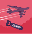 bomber and jackpot bombing vector image vector image
