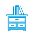 books on drawer vector image vector image