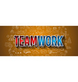 Business TeamWork Concept with Doodle design style vector image vector image