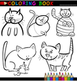 Cartoon Cats for Coloring Book or Page vector image vector image