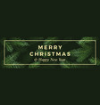 christmas and new year abstract greeting vector image