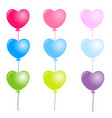 colorful heart balloons on white background vector image