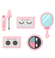 cosmetics eye set vector image vector image