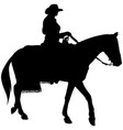 cowgirl riding a horse silhouette vector image