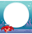 Crab with white blank vector image vector image