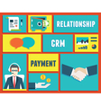 Customer relationship management service vector image vector image