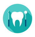 dentist tools circle icon vector image vector image