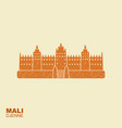 djenne great mosque in farmantala in mali flat vector image vector image