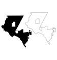 el paso city map vector image vector image
