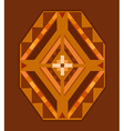 Ethnic ornamented element of pattern vector image