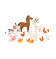 farm animals grazing in the pasture grazing vector image vector image