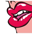 Female mouth icon Pop art design graphic vector image vector image