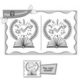 find 9 differences game book knowledge vector image vector image