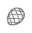 fir cone line icon vector image vector image