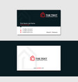 flat business card with red logotype of housing vector image vector image