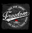 freedom typography tee graphic design vector image