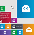 Ghost icon sign buttons Modern interface website vector image vector image