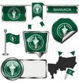 glossy icons with flag bangkok vector image