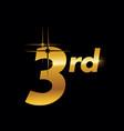 gold 3rd logo