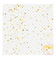gold glitter background polka dot vector image vector image
