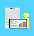 graph of tax statistics vector image vector image