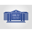 Graphic icon school building vector image