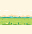 grass field game background flat landscape vector image