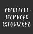 handwritten brush script english alphabet abc vector image vector image