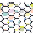 hexomania seamless pattern vector image