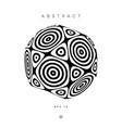 hypnotic abstract circles logo optical illusion vector image