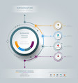 infographics 3d circle label with arrows sign and vector image vector image