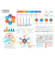 infographics elements statistics chart option vector image vector image