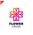 isolated abstract colorful cross logo medical vector image vector image